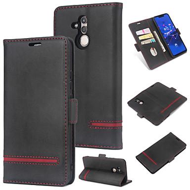 غطاء من أجل Huawei Huawei Mate 20 lite محفظة / حامل البطاقات / قلب غطاء خلفي لون سادة قاسي جلد PU