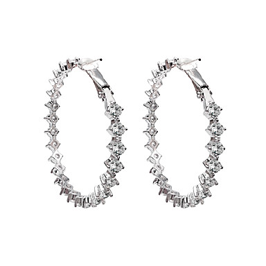 povoljno Trake i žice-Klasičan Naušnica - Kubični Zirconia Dijamant Europska, Simple Style, Moda Zlato / Pink Za Party Dar Žene / 1 par
