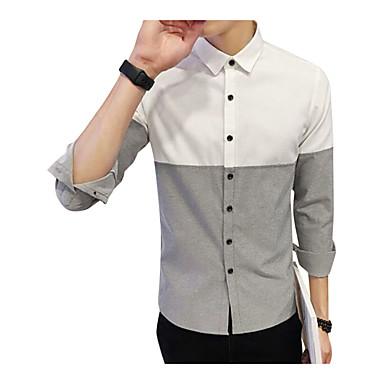 Majica Muškarci Izlasci / Rad Color block Slim Obala / Dugih rukava