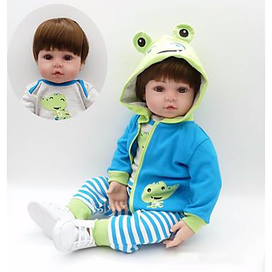 NPKCOLLECTION NPK DOLL Autentične bebe Za muške bebe 24 inch Dar Hand Made Umjetna implantacija Smeđe oči Dječjom Dječaci Igračke za kućne ljubimce Poklon