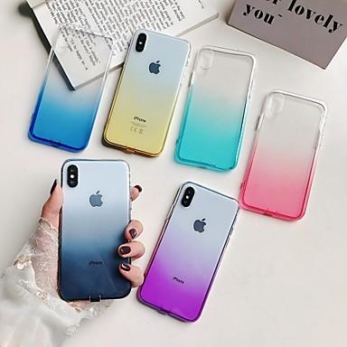 Недорогие Кейсы для iPhone 7 Plus-Кейс для Назначение Apple iPhone XS / iPhone XR / iPhone XS Max Полупрозрачный Кейс на заднюю панель Градиент цвета Мягкий ТПУ