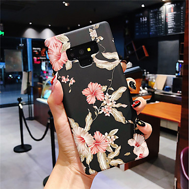 voordelige Galaxy Note-serie hoesjes / covers-hoesje Voor Samsung Galaxy Note 9 / Note 8 Glow in the dark / Mat Achterkant Bloem Hard PC