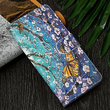 Θήκη Za Samsung Galaxy J7 (2017) / J6 (2018) / J6 Plus Novčanik / Utor za kartice / sa stalkom Korice Rukav leptir / Cvijet Tvrdo PU koža