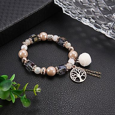 Žene Narukvica s perlama Narukvica Gyöngyök Boemski stil Moda Elegantno Reciklirani papir Narukvica Nakit Rose Gold Za Dnevno Spoj