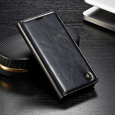 غطاء من أجل Sony Sony Xperia XZ3 / Xperia XZ2 Compact / Xperia XZ2 محفظة / حامل البطاقات / مع حامل غطاء كامل للجسم لون سادة قاسي جلد PU