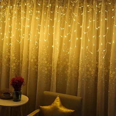3m * 1m Žice sa svjetlima 120 LED diode Dip Led Toplo bijelo Party / Ukrasno / Vjenčanje 220-240 V 1set