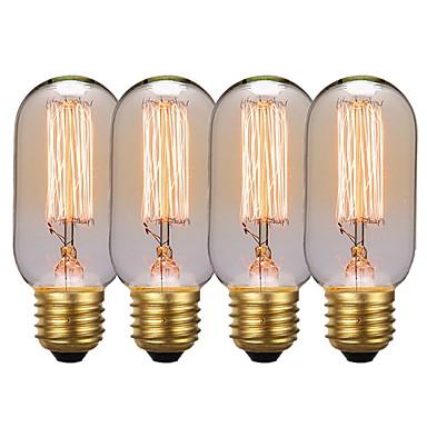 GMY® 4kom 40 W E26 / E27 T45 Jantarno 2200 k Retro / Zatamnjen / Ukrasno Žarulja sa žarnom niti Edison 220-240 V
