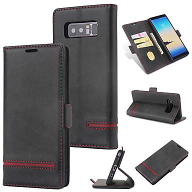 Θήκη Za Samsung Galaxy Note 8 Novčanik / Utor za kartice / Zaokret Stražnja maska Jednobojni Tvrdo PU koža