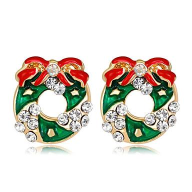 Žene Kubični Zirconia Naušnica Klasičan Flower Shape dame Moda Naušnice Jewelry Duga Za Božić Dnevno 1 par