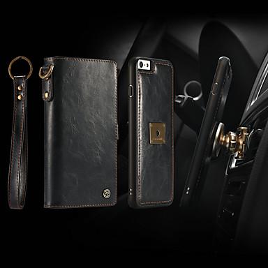 Недорогие Чехлы и чехлы-Caseme чехол для Apple iPhone 6S / Iphone 6 кошелек / держатель карты / флип чехлы для тела сплошной цвет твердой кожи