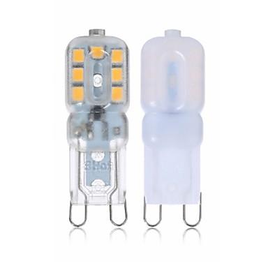 SENCART 4kom 2 W LED svjetla s dvije iglice 260 lm G9 T 14 LED zrnca SMD 2835 New Design Ukrasno Toplo bijelo Bijela 110-240 V