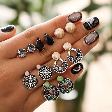 Žene Naušnice Set Vintage Style Ispustiti Cvijet Moda Boho Naušnice Jewelry Duga Za Karneval Spoj 6 Parovi