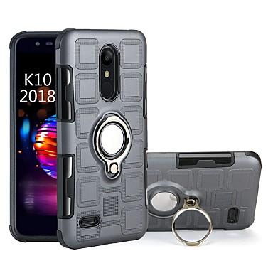 Недорогие Чехлы и кейсы для LG-Кейс для Назначение LG LG K10 2018 / LG K8 / Moto C plus Защита от удара / Кольца-держатели Кейс на заднюю панель броня Твердый ПК