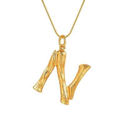 Žene Ogrlice s privjeskom Ime Alphabet Shape pomodan Moda Legura Zlato Pink 55 cm Ogrlice Jewelry 1pc Za Dar Dnevno