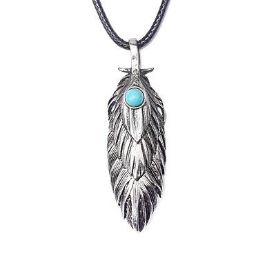 collier homme turquoise