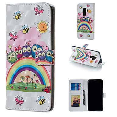 Θήκη Za Samsung Galaxy S9 / S9 Plus / S8 Plus Novčanik / Utor za kartice / sa stalkom Korice Sova Tvrdo PU koža