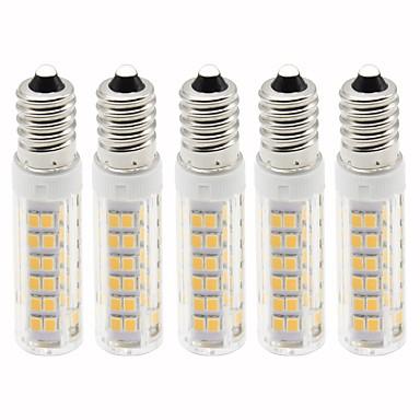 5pcs 4.5 W LED klipaste žarulje 450 lm E14 T 76 LED zrnca SMD 2835 Zatamnjen Toplo bijelo Hladno bijelo 220 V