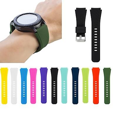 Недорогие Часы для Samsung-Ремешок для часов для Gear S3 Frontier / Gear S3 Classic Samsung Galaxy Спортивный ремешок / Классическая застежка силиконовый Повязка на запястье