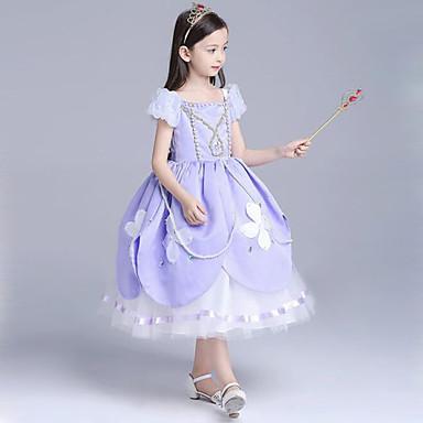 d26411bd47f Σοφία Στολές Ηρώων Παιδικά Κοριτσίστικα Φορέματα Χριστούγεννα Halloween  Απόκριες Γιορτές / Διακοπές Τούλι Βαμβάκι Μπλε Απαλό / Ροζ Αποκριάτικα  Κοστούμια ...