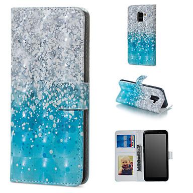voordelige Galaxy A-serie hoesjes / covers-hoesje Voor Samsung Galaxy A6 (2018) / A6+ (2018) / Galaxy A7(2018) Portemonnee / Kaarthouder / met standaard Volledig hoesje Kleurgradatie Hard PU-nahka