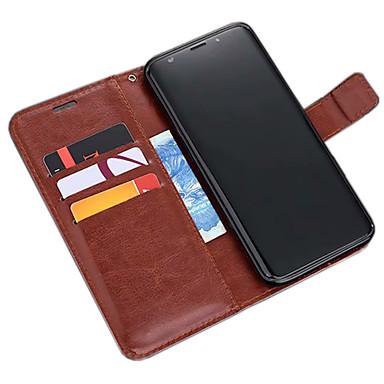 voordelige Galaxy S-serie hoesjes / covers-hoesje Voor Samsung Galaxy S9 / S9 Plus Portemonnee / Kaarthouder / met standaard Volledig hoesje Effen Zacht PU-nahka