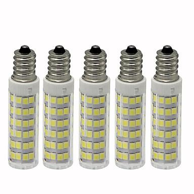 5pcs 4.5 W LED klipaste žarulje 450 lm E12 T 76 LED zrnca SMD 2835 Zatamnjen Toplo bijelo Hladno bijelo 110 V