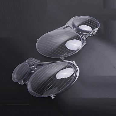 2pcs سيارة اغطية السيارات الخفيفة شفاف تصميم جديد إلى كشافات من أجل مركدسبنز E الفئة 2002 / 2003 / 2004
