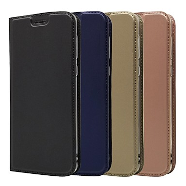 رخيصةأون Motorola أغطية / كفرات-غطاء من أجل موتورولا MOTO G6 / Moto G6 Plus / Moto G5s Plus حامل البطاقات / مع حامل / قلب غطاء كامل للجسم لون سادة قاسي جلد PU
