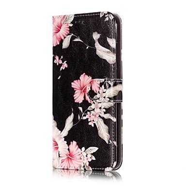 رخيصةأون LG أغطية / كفرات-غطاء من أجل LG LG V30 / LG Stylo 4 / LG K10 2018 محفظة / حامل البطاقات / مع حامل غطاء كامل للجسم زهور قاسي جلد PU