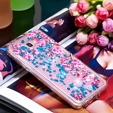 Θήκη Za Samsung Galaxy J7 Prime Otporno na trešnju / Šljokice Stražnja maska Šljokice / Cvijet Mekano TPU