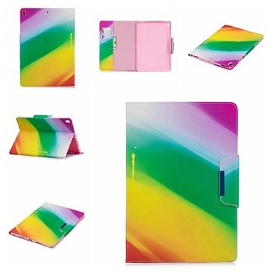 رخيصةأون أغطية أيباد-غطاء من أجل Apple iPad Air / iPad 4/3/2 / iPad Mini 3/2/1 محفظة / ضد الصدمات / مع حامل غطاء كامل للجسم خطوط / أمواج / منظر / رسم زيتي قاسي جلد PU / iPad Pro 10.5 / iPad (2017)