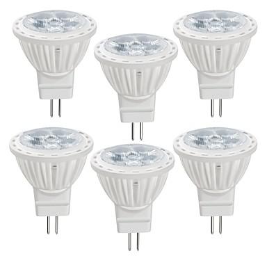 6kom 4 W LED reflektori 350 lm MR11 MR11 4 LED zrnca SMD 2835 Toplo bijelo Hladno bijelo 12 V