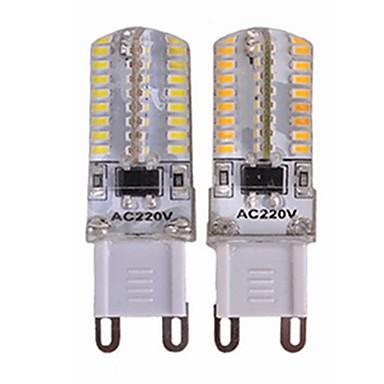 SENCART 4kom 3.5 W LED svjetla s dvije iglice 450 lm G9 T 64 LED zrnca SMD 3014 New Design Ukrasno Toplo bijelo Bijela 110-240 V