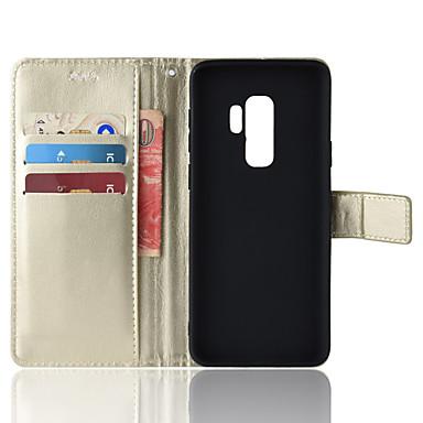 Θήκη Za Samsung Galaxy S9 / S9 Plus Novčanik / Utor za kartice / sa stalkom Korice Jednobojni Mekano PU koža