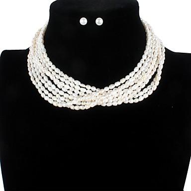 povoljno Trake i žice-Slatkovodni biser Moderna Komplet nakita - Biseri blažen Simple Style, Moda, Elegantno Obala Za Party Zabave Žene