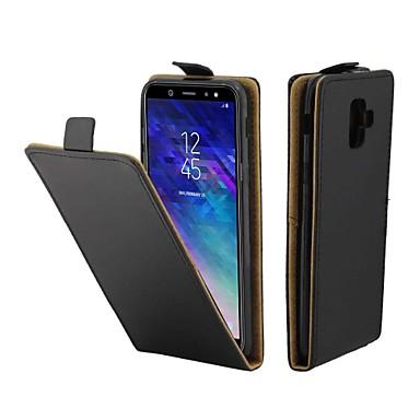 Θήκη Za Samsung Galaxy A6 (2018) Utor za kartice / Zaokret Korice Jednobojni Tvrdo PU koža