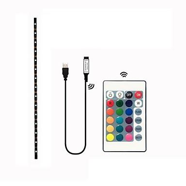 1m Setovi svjetala 30 LED diode SMD5050 1 24Ključuje daljinski upravljač RGB Vodootporno / Cuttable / Ukrasno 5 V 1set