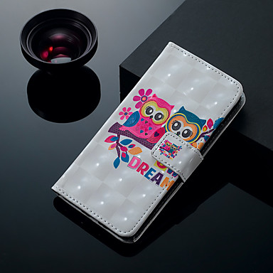 Недорогие Кейсы для iPhone 6 Plus-Кейс для Назначение Apple iPhone XS / iPhone XR / iPhone XS Max Бумажник для карт / со стендом / Флип Чехол Животное / Сова Твердый Кожа PU