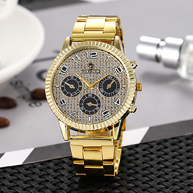 Žene Sat uz haljinu Ručni satovi s mehanizmom za navijanje Kvarc Zlatna Casual sat Analog Vintage Moda - Bijela / Zlatna Zlato Gold / crna