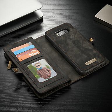 Недорогие Чехлы и кейсы для Galaxy S-Кейс для Назначение SSamsung Galaxy S8 Plus Кошелек / Бумажник для карт / со стендом Чехол Однотонный Твердый Кожа PU