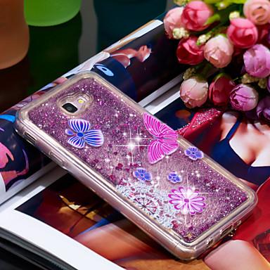 Θήκη Za Samsung Galaxy J7 Prime Otporno na trešnju / Šljokice Stražnja maska Rukav leptir / Šljokice Mekano TPU