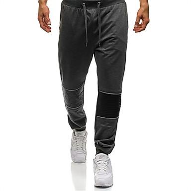 Muškarci Osnovni Dnevno Sportske hlače Hlače - Jednobojni Pamuk Crn Tamno siva Navy Plava L XL XXL