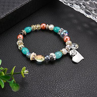 Dames Kralenarmband Armband kralen Bohémien Modieus Elegant Glas Armband sieraden Regenboog Voor School Uitgaan