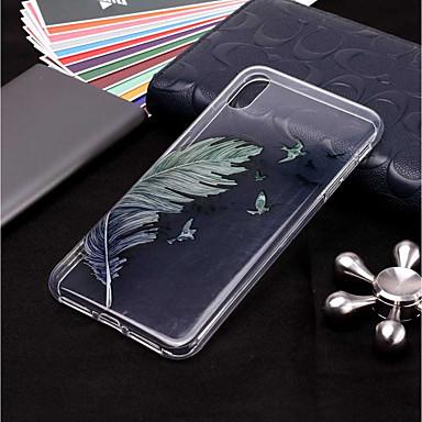 Θήκη Za Apple iPhone XR / iPhone XS Max Prozirno / Uzorak Stražnja maska Perje Mekano TPU za iPhone XS / iPhone XR / iPhone XS Max