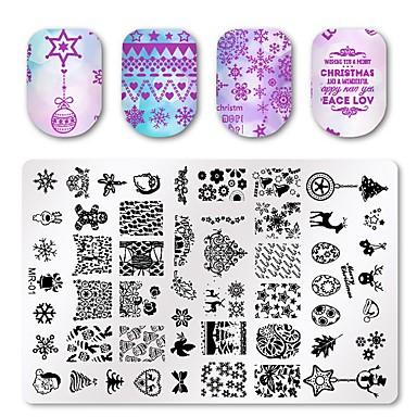 3 pcs Multi Function / Najbolja kvaliteta Tikovina naljepnice Za Kreativan nail art Manikura Pedikura Božić / Dnevno Moda