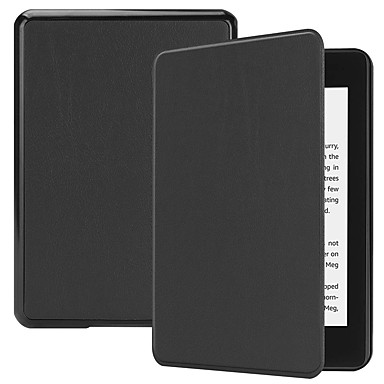 cheap Kindle Cases/Covers-Case For Amazon Kindle PaperWhite 4 Shockproof / with Stand / Magnetic Full Body Cases Solid Colored Hard PU Leather