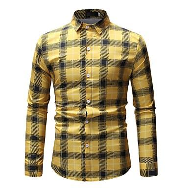 Majica Muškarci - Osnovni Dnevno Pamuk Prugasti uzorak / Geometrijski oblici / Color block Print Obala / Dugih rukava