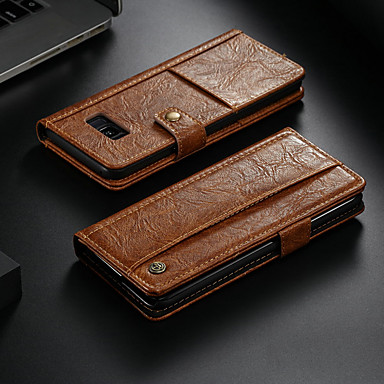 voordelige Galaxy Note-serie hoesjes / covers-hoesje Voor Samsung Galaxy Note 8 Portemonnee / Kaarthouder / met standaard Volledig hoesje Effen Hard PU-nahka