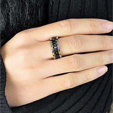 Žene Band Ring 1pc Crn Legura dame Mértani Osnovni Dnevno Spoj Jewelry Teniski lanac Slatko