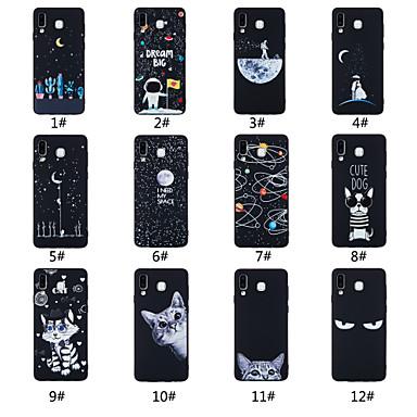 رخيصةأون حافظات / جرابات هواتف جالكسي A-غطاء من أجل Samsung Galaxy A5(2018) / A6 (2018) / A6+ (2018) مثلج / نموذج غطاء خلفي جملة / كلمة / منظر / حيوان ناعم TPU